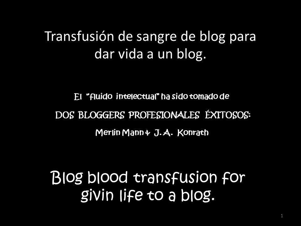 1 Blog blood transfusion for givin life to a blog.