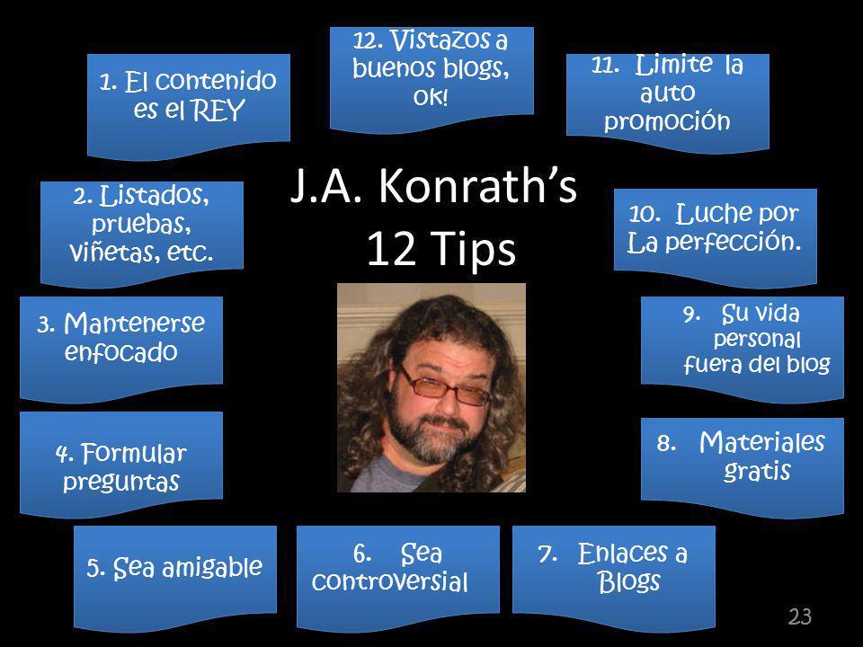 23 12. Vistazos a buenos blogs, ok. 11. Limite la auto promoción 11.
