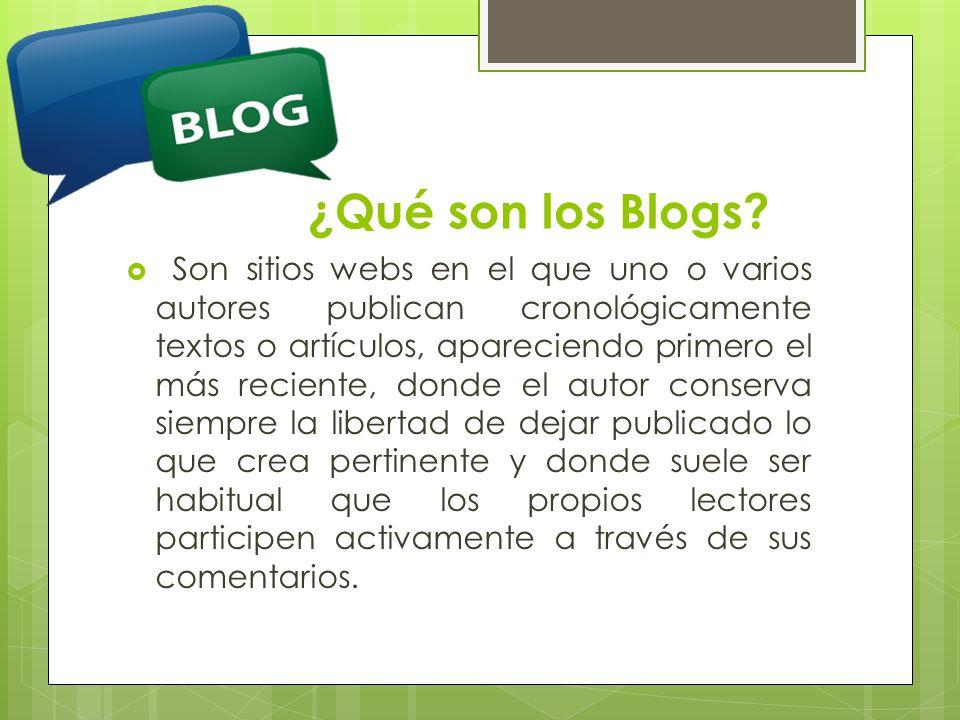 ¿Qué son los Blogs.