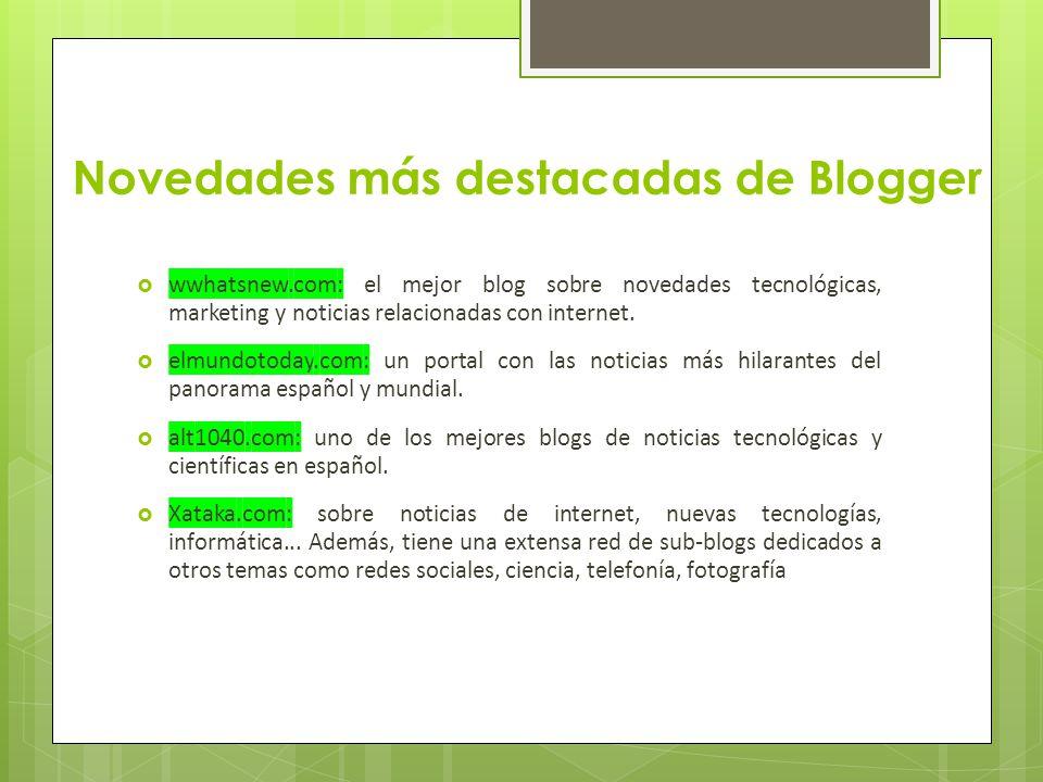 Tipos de gadgets disponibles en Blogger Existen muchos tipos de gadgets los cuales pueden ser para entretenimiento, información, distracción o para simple visualización de funciones.