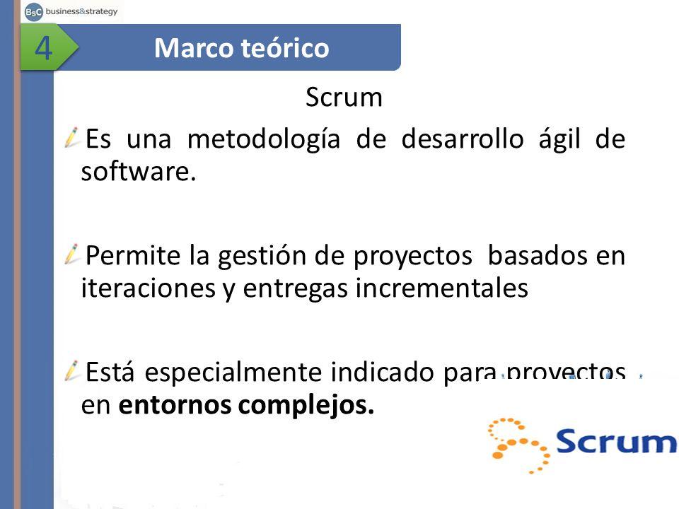 Scrum Es una metodología de desarrollo ágil de software.