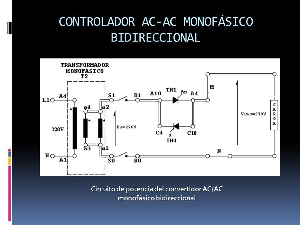 CONTROLADOR AC-AC MONOFÁSICO BIDIRECCIONAL Circuito de potencia del convertidor AC/AC monofásico bidireccional