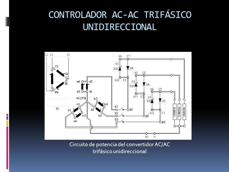 CONTROLADOR AC-AC TRIFÁSICO UNIDIRECCIONAL Circuito de potencia del convertidor AC/AC trifásico unidireccional