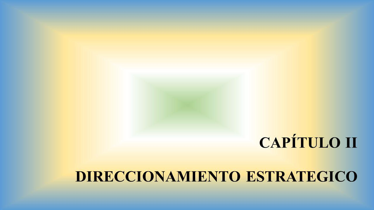 CAPÍTULO II DIRECCIONAMIENTO ESTRATEGICO