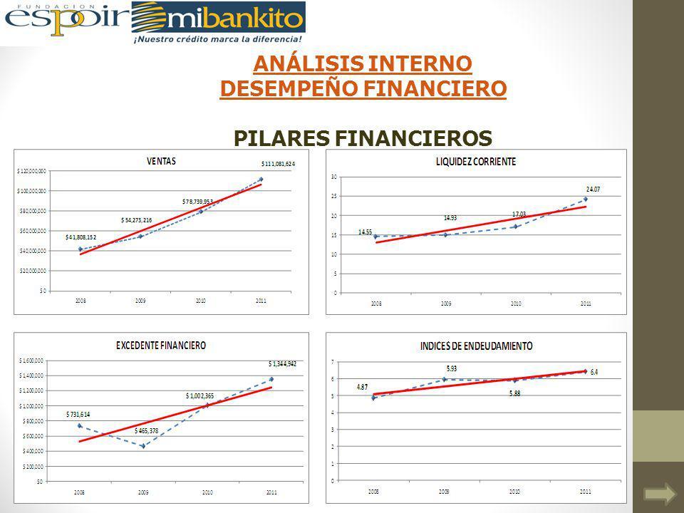 ANÁLISIS INTERNO DESEMPEÑO FINANCIERO ANÁLISIS INTERNO DESEMPEÑO FINANCIERO PILARES FINANCIEROS