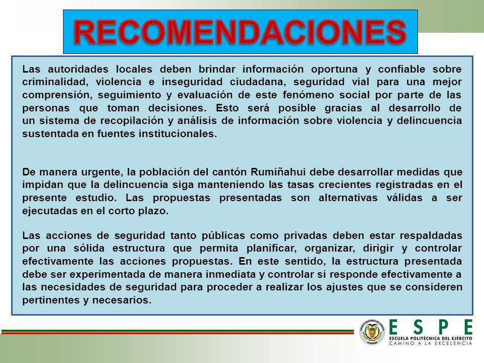 Las autoridades locales deben brindar información oportuna y confiable sobre criminalidad, violencia e inseguridad ciudadana, seguridad vial para una