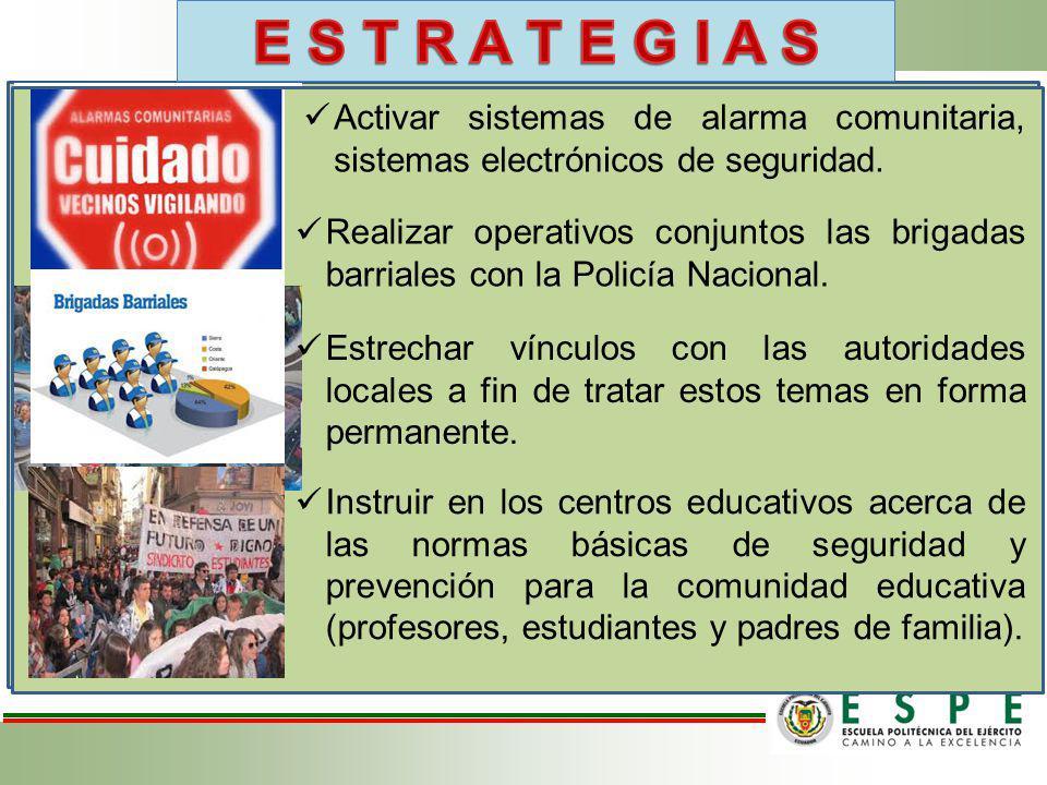 Capacitar a la asamblea de seguridad y a las brigadas de seguridad ciudadana sobre su forma de desempeñarse ante la presencia de sospechosos, activaci