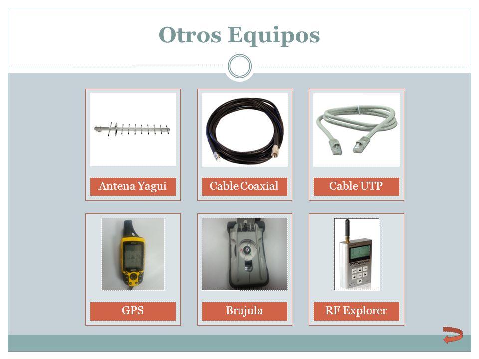 Otros Equipos Antena YaguiCable CoaxialCable UTPGPSBrujulaRF Explorer