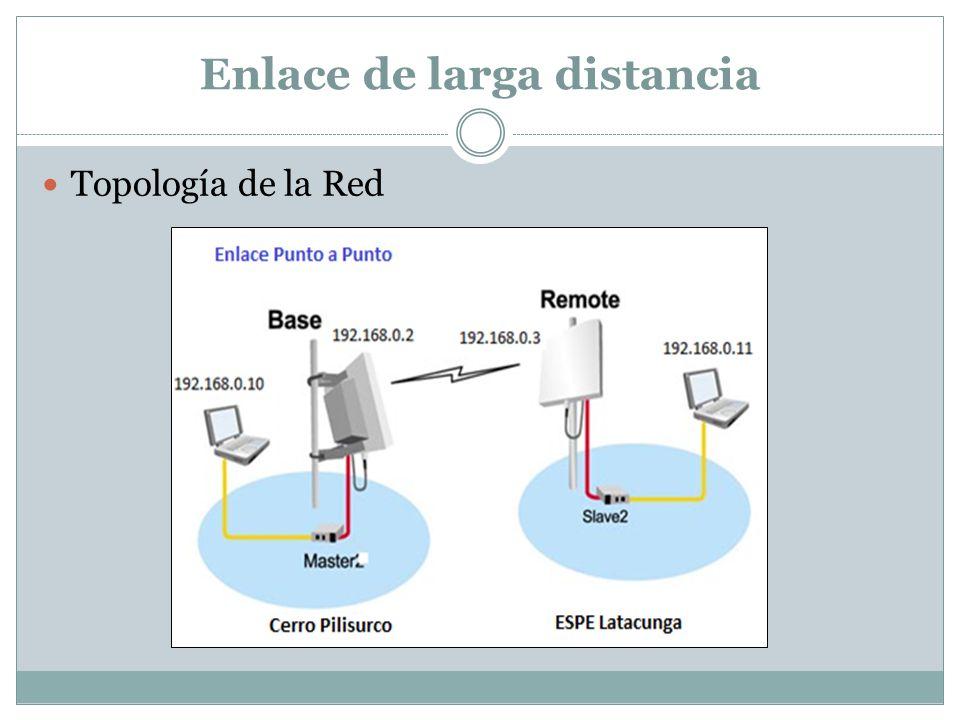 Enlace de larga distancia Topología de la Red