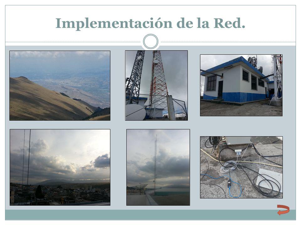 Implementación de la Red.