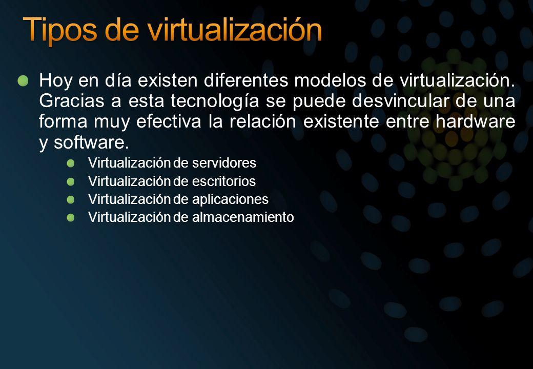 Hoy en día existen diferentes modelos de virtualización. Gracias a esta tecnología se puede desvincular de una forma muy efectiva la relación existent