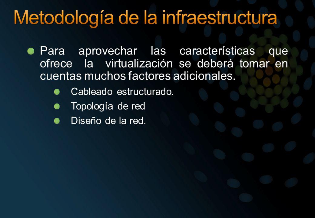 Para aprovechar las características que ofrece la virtualización se deberá tomar en cuentas muchos factores adicionales. Cableado estructurado. Topolo