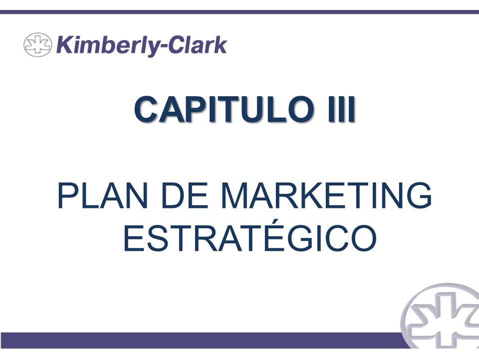 CAPITULO III CAPITULO III PLAN DE MARKETING ESTRATÉGICO