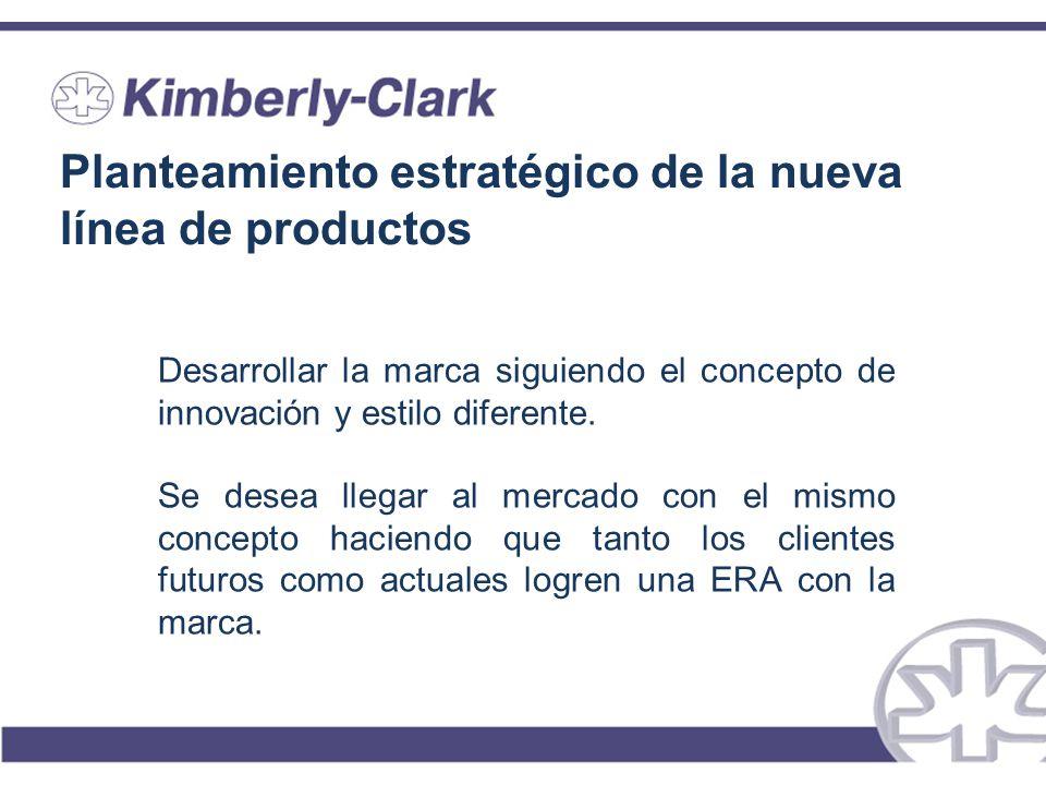 Planteamiento estratégico de la nueva línea de productos Desarrollar la marca siguiendo el concepto de innovación y estilo diferente. Se desea llegar