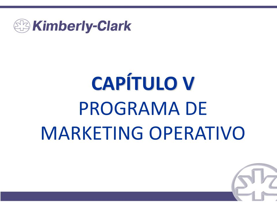 CAPÍTULO V CAPÍTULO V PROGRAMA DE MARKETING OPERATIVO