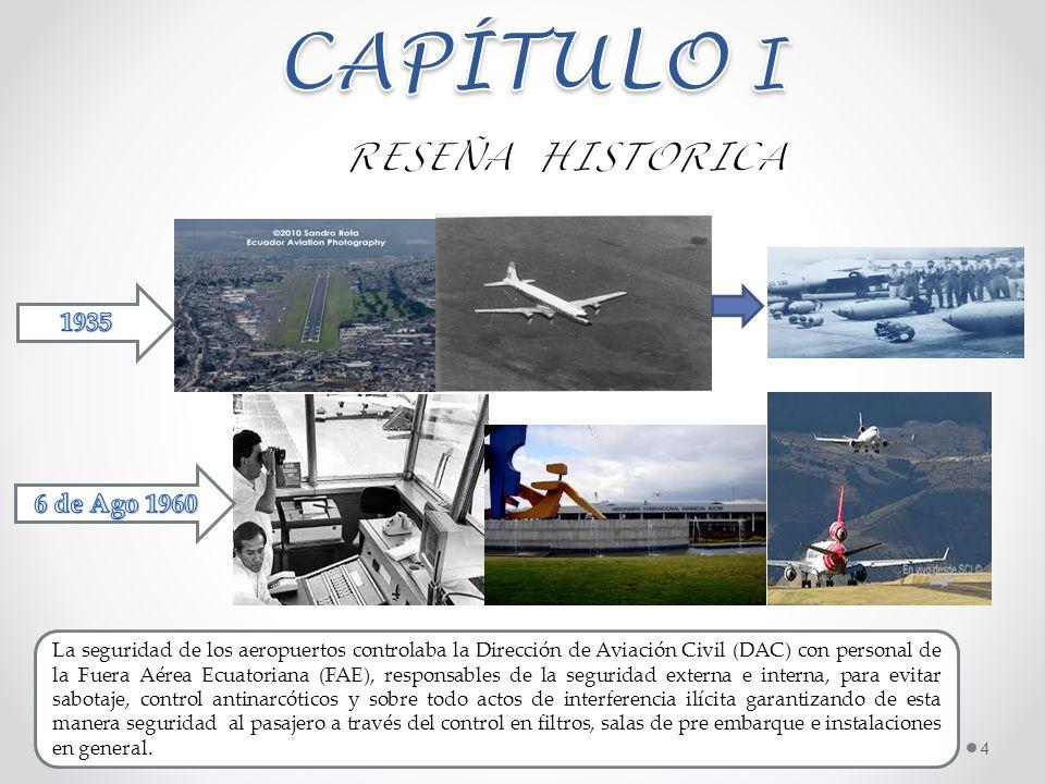 4 La seguridad de los aeropuertos controlaba la Dirección de Aviación Civil (DAC) con personal de la Fuera Aérea Ecuatoriana (FAE), responsables de la