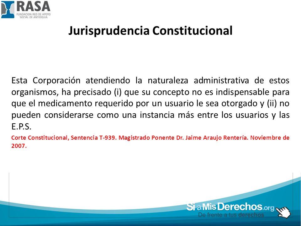 Jurisprudencia Constitucional Esta Corporación atendiendo la naturaleza administrativa de estos organismos, ha precisado (i) que su concepto no es ind