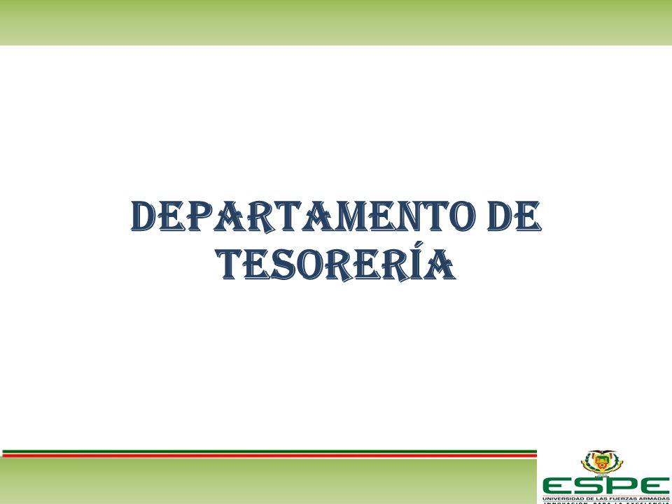 Departamento de tesorería