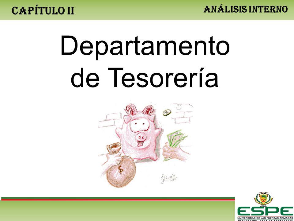 CAPÍTULO II ANÁLISIS INTERNO Departamento de Tesorería