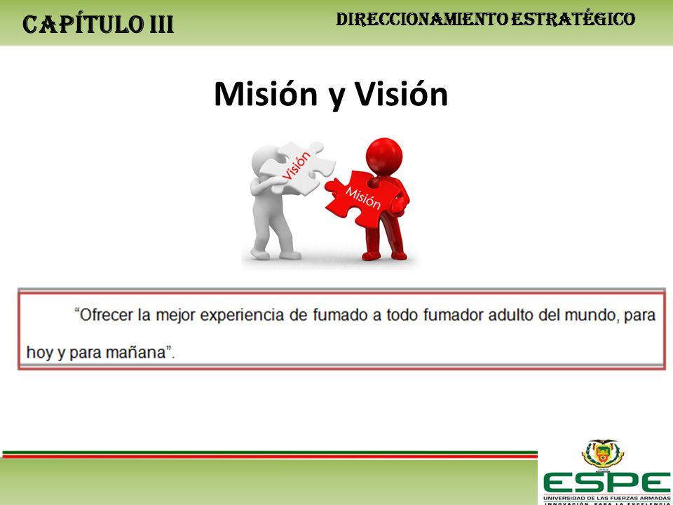 CAPÍTULO III DIRECCIONAMIENTO ESTRATÉGICO Misión y Visión