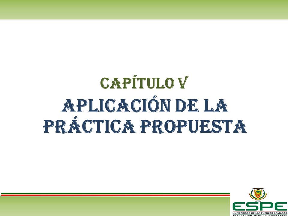 CAPÍTULO V Aplicación de la práctica propuesta