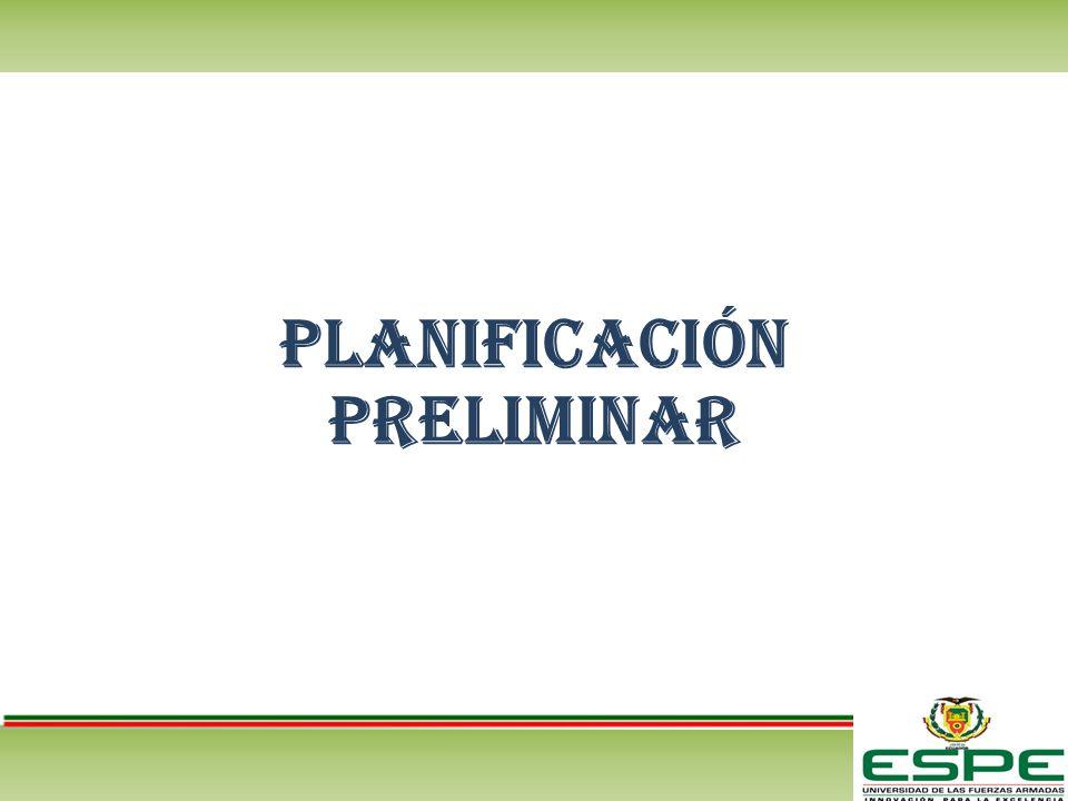 Planificación preliminar