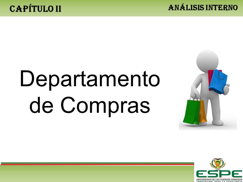 CAPÍTULO II ANÁLISIS INTERNO Departamento de Compras
