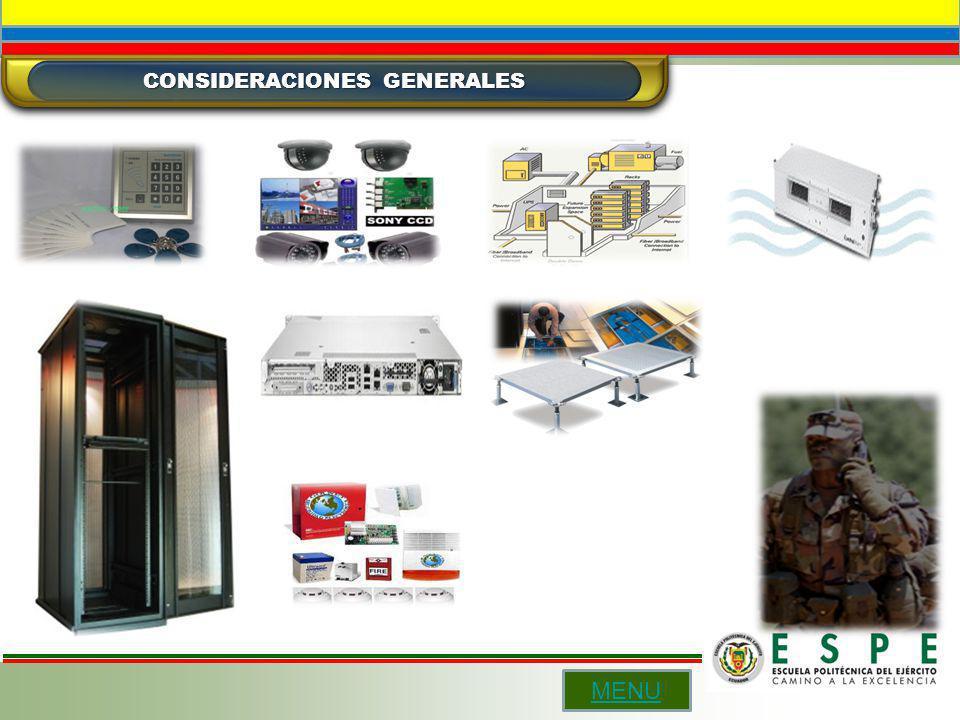 CONSIDERACIONES GENERALES MENU