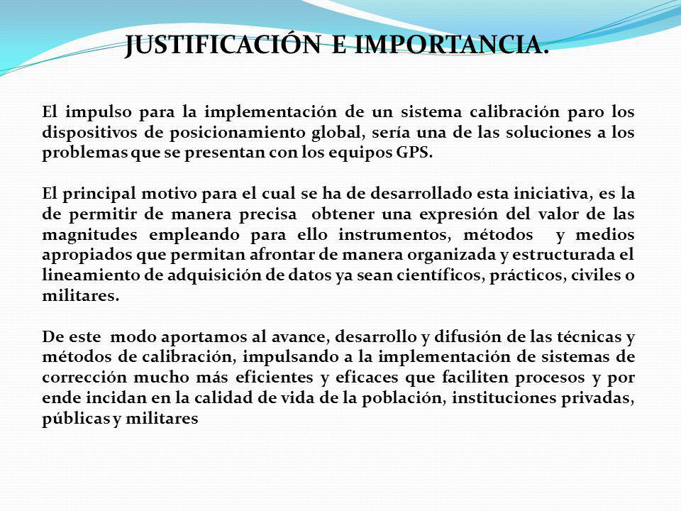 JUSTIFICACIÓN E IMPORTANCIA.