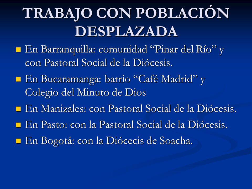 En Barranquilla: comunidad Pinar del Río y con Pastoral Social de la Diócesis. En Barranquilla: comunidad Pinar del Río y con Pastoral Social de la Di