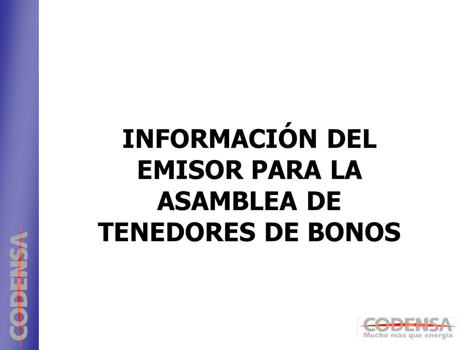 1 ENDESA INFORMACIÓN DEL EMISOR PARA LA ASAMBLEA DE TENEDORES DE BONOS
