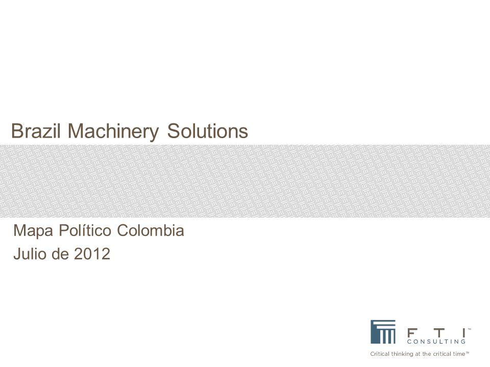 Mapa Político Colombia Julio de 2012 Brazil Machinery Solutions