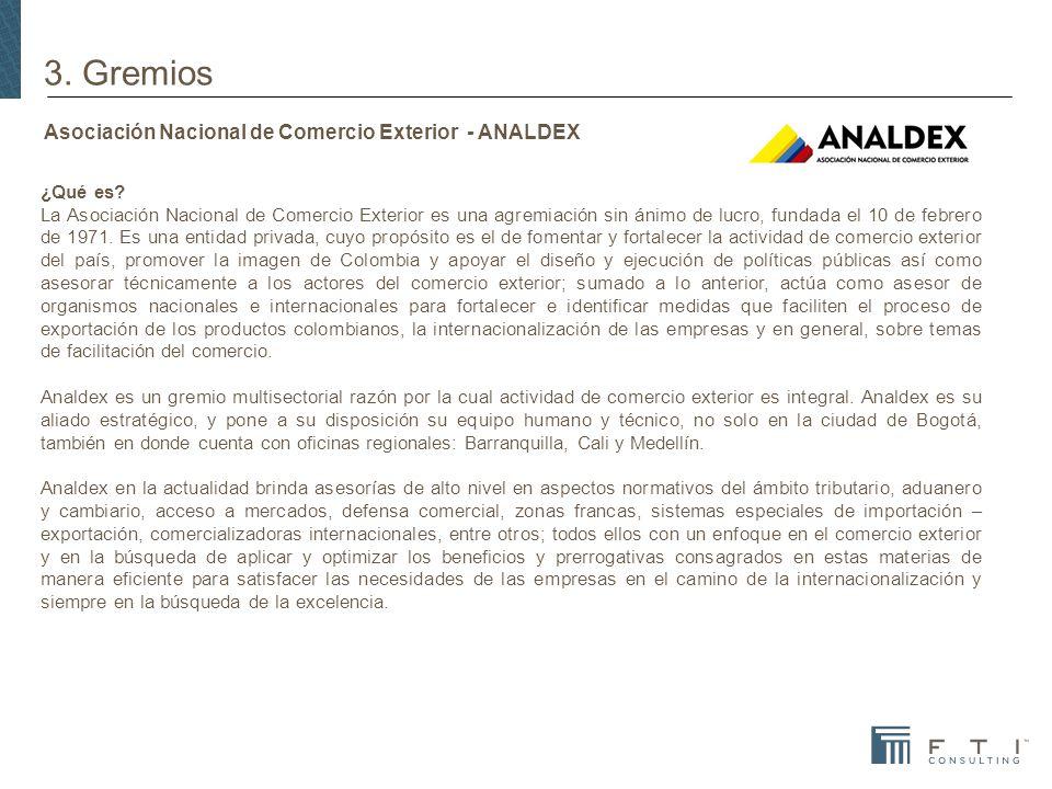 Asociación Nacional de Comercio Exterior - ANALDEX ¿Qué es.