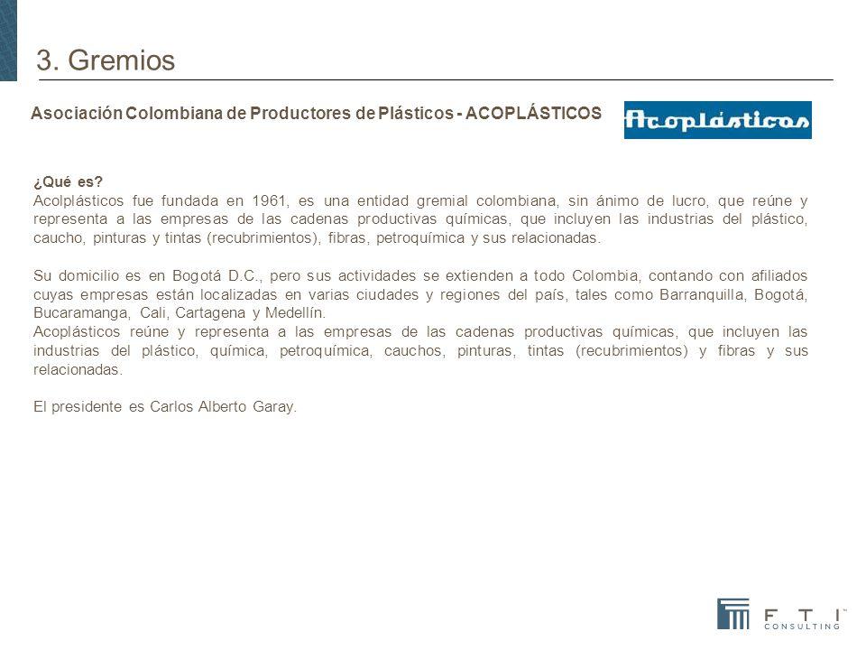 Asociación Colombiana de Productores de Plásticos - ACOPLÁSTICOS ¿Qué es.