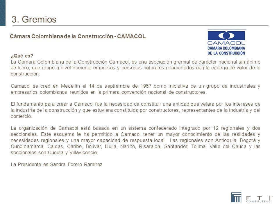 Cámara Colombiana de la Construcción - CAMACOL ¿Qué es.