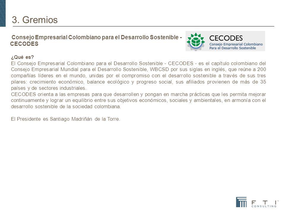 Consejo Empresarial Colombiano para el Desarrollo Sostenible - CECODES ¿Qué es.
