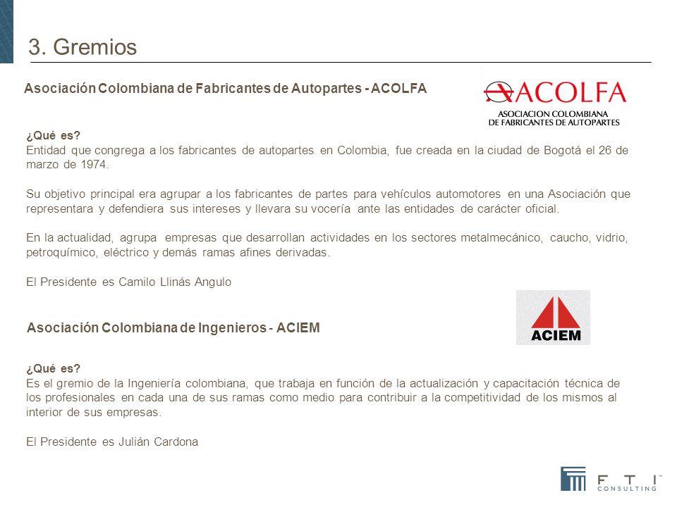 Asociación Colombiana de Fabricantes de Autopartes - ACOLFA ¿Qué es.