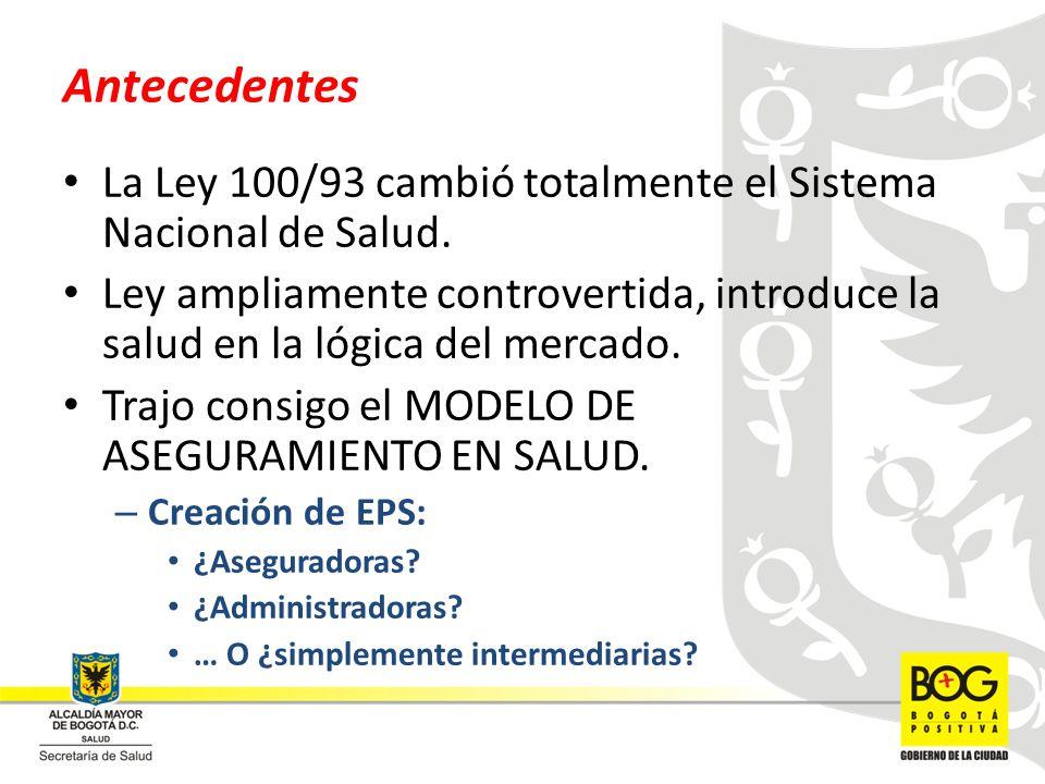 REDES GENERALES DE SERVICIOS DE SALUD Red de Consulta externa o de servicios ambulatorios Red de Hospitalización.