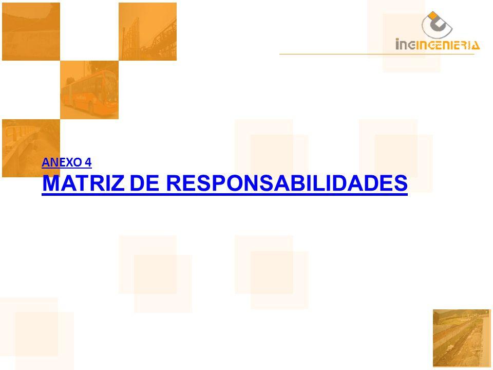ANEXO 4 MATRIZ DE RESPONSABILIDADES