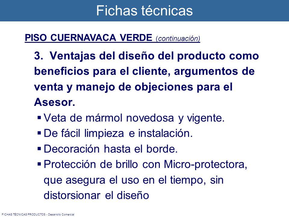 PISO CUERNAVACA VERDE (continuación) 3.