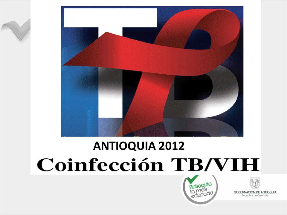De 1614 casos con TB Registrados año 2012, 193 registran co-infección TB/VIH - el 12% Por base de datos de SITB El 70% con cultivo registrado.