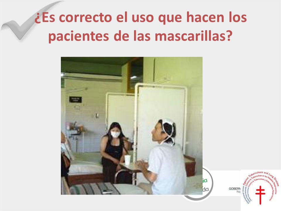 ¿Es correcto el uso que hacen los pacientes de las mascarillas?