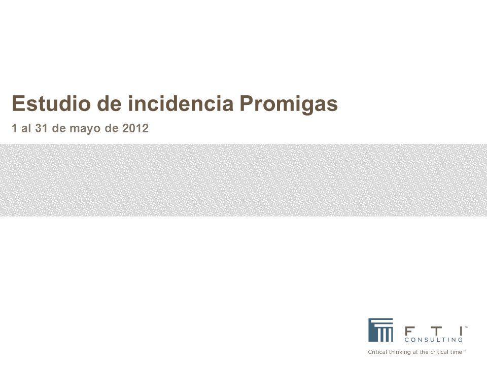Estudio de incidencia Promigas 1 al 31 de mayo de 2012