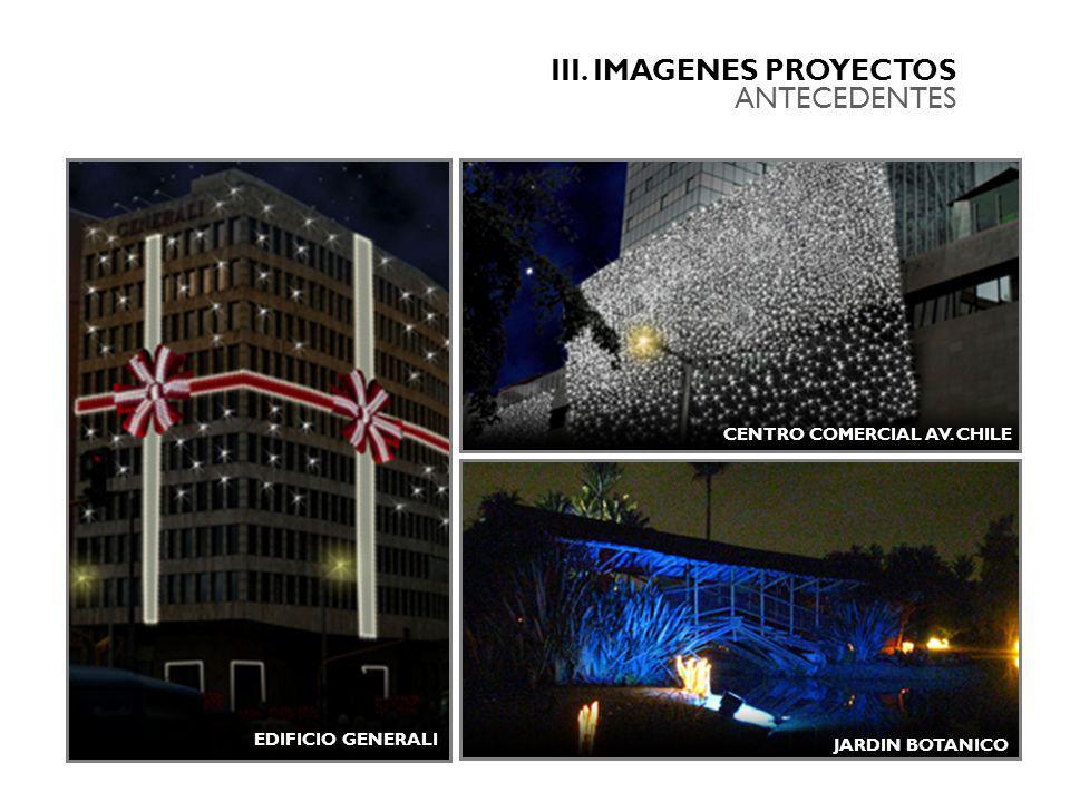 III. IMAGENES PROYECTOS ANTECEDENTES CENTRO COMERCIAL AV. CHILE EDIFICIO GENERALI JARDIN BOTANICO