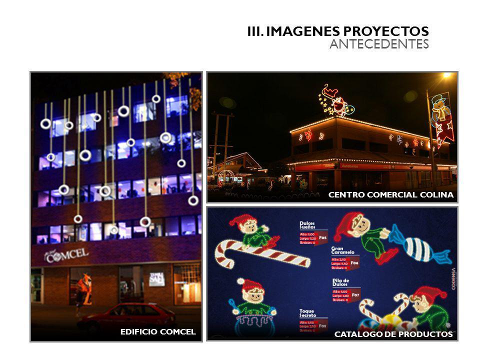 III. IMAGENES PROYECTOS ANTECEDENTES CENTRO COMERCIAL COLINA EDIFICIO COMCEL CATALOGO DE PRODUCTOS