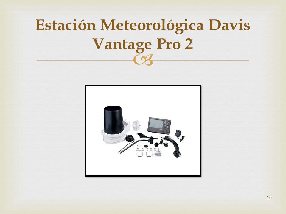 10 Estación Meteorológica Davis Vantage Pro 2