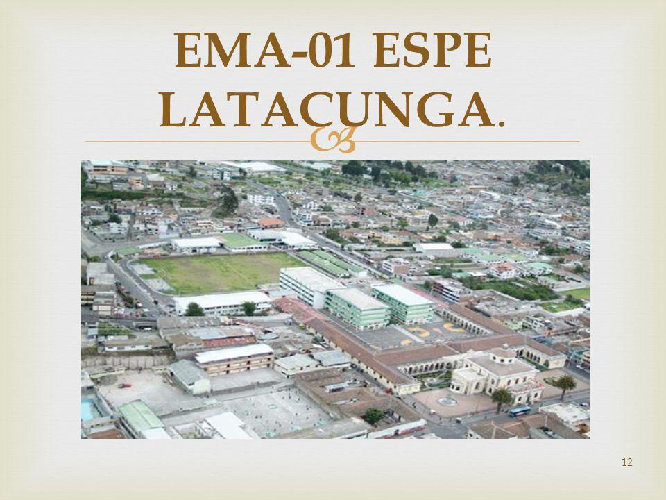 12 EMA-01 ESPE LATACUNGA.