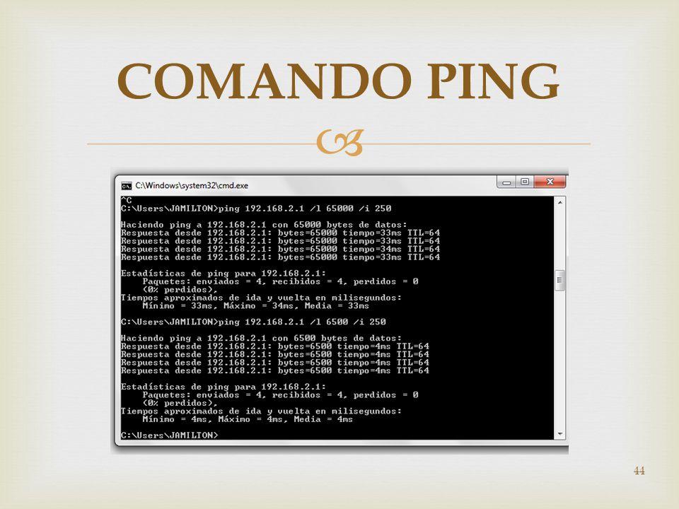 44 COMANDO PING