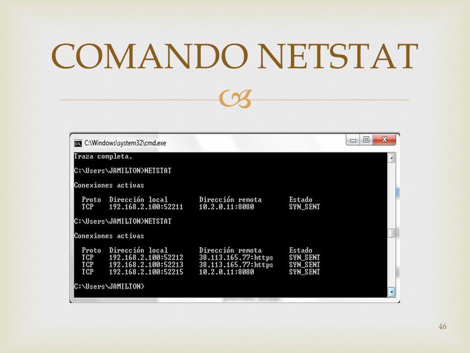 46 COMANDO NETSTAT