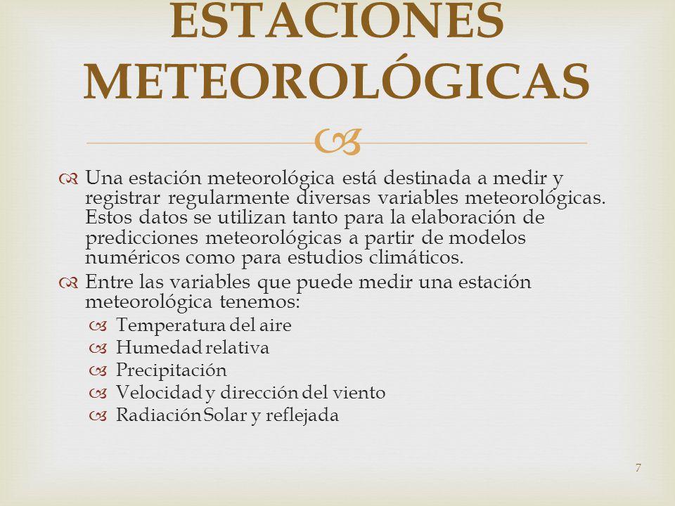 Una estación meteorológica está destinada a medir y registrar regularmente diversas variables meteorológicas. Estos datos se utilizan tanto para la el